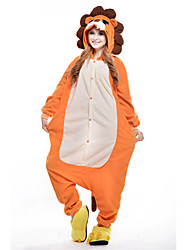 kigurumi Pyjamas New Cosplay® Lion Collant/Combinaison Fête / Célébration Pyjamas Animale Halloween Orange Mosaïque Polaire Kigurumi Pour