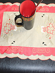 Christmas With Candle Pattern Embroidery Multi-Purpose  Table Cloths With   Size 28X43cm(11X17 inch)