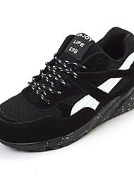 Scarpe Donna-Sneakers alla moda-Tempo libero / Casual / Sportivo-Comoda-Piatto-Finta pelle / Tessuto-Nero / Verde / Kaki
