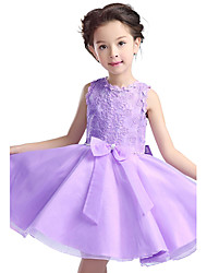 New High-Grade Flower Girl Wedding Party Performance Costume Children Princess Clothing Girl Formal Dresses Pink/Purple