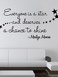 Everyone Is A Star Wall Stickers Quote Decals Removable Diy Nursery Room Art Mural