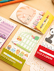 Animal Panda Kawaii Sticky Notes Post It Memo Pad School Supplies Planner Stickers Paper Bookmarks Korean Stationery