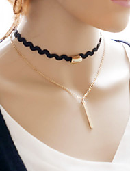 Necklace Choker Necklaces Gothic Jewelry Torque Tattoo Choker Jewelry Wedding Party Halloween Daily Casual Tattoo Style FashionLace