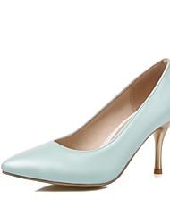 Розовый / Фиолетовый / Белый / Оливковый-Женская обувь-Для офиса / Для праздника / Для вечеринки / ужина-Дерматин-На шпильке-На каблуках