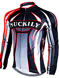Nuckily Cycling Jacket Men's Long Sleeve Bike Jersey Tops Waterproof Thermal / Warm Windproof Rain-Proof Reflective StripsVelvet