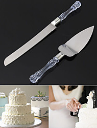 2Pcs Stainless Steel Cake Cut Shovel Crystal Handle Cheese Cake Cutter Tools Wedding Party Cake Knife