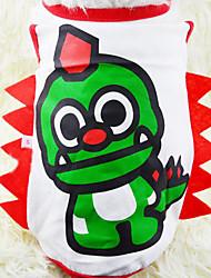 Lovely Dinosaurs Cartoon Printing Pet Vest