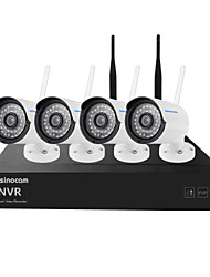 Szsinocam®Mini 4CH 960P 1.3MP WIFI NVR Kits,No Need To Set, You Can  The Image,Support Mobile phone P2P.