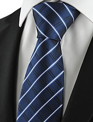 New Plaid Checked Navy Classic Mens Tie Formal Suit Necktie Holiday Gift KT1010