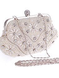 L.WEST® Women's Pearl Inlaid Diamonds Party/Evening Bag