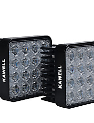 "KAWELL® 2 Pack 48W Square 4.3"" 30 Degree LED for ATV/Jeep/Boat/Suv/Truck/Car/Atvs"