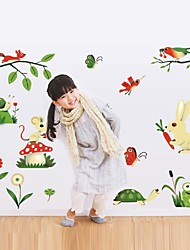 Frog Small Insects Gathering Nursery Wall Stickers Cartoon Children'S Room Decoration Stickers
