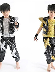 Jazz Outfits Children's Performance Sequined Sequins 3 Pieces Gold / Silver