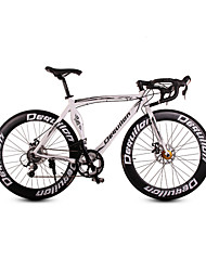 Dequilon aluminum road bike 16 speed muscle machete hand has become one of the professional version of the classic white