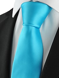 New Solid Baby Blue Men Tie Suit Necktie Formal Wedding Party Holiday GiftKT1018