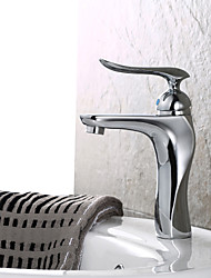 Thermostatic Bathroom Sink Faucet Contemporary Chrome Brass Centerset