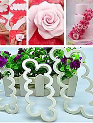 Rose Flower Mold Cake Fondant Cake Cookie Decorating Sugarcraft Cutter Tool ,Set of 3