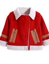 Girl's Red Jacket & Coat Cotton Spring / Fall