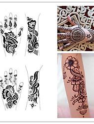 1шт тату шаблоны руки / ноги татуировка хной трафареты для аэрографии профессиональный Менди новый комплект покраска кузова