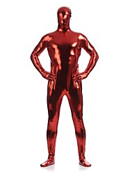 Costumes zentai brillants Ninja Costume Zentai Costumes de Cosplay Rouge Couleur Pleine Collant/Combinaison / Costume ZentaiElasthanne /