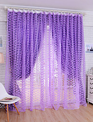 W100cm*L200cm,Roses One Panel Rod pocket Multicolour Polyester Sheer Curtains Shades