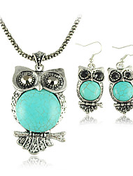 Jewelry Set Women's Anniversary / Gift / Party / Daily Jewelry Sets Alloy Turquoise Earrings / Necklaces Silver / Blue