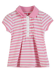 Girl's Pink Tee,Stripes Cotton Summer / Spring