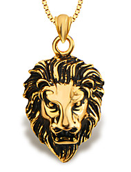 Fashion Lion Animal Jewelry Pendant 18K Gold Plated Men/Women Gift P30137