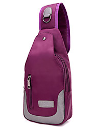 Unisex Nylon Sports / Casual / Shopping Shoulder Bag / Satchel / Cross Body Bag / Waist Bag-Purple / Blue /