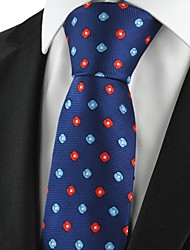 Check Pattern Navy Red Classic Men Tie Formal Necktie Party Holiday Gift KT1038