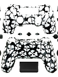 Replacement Controller Case for PS4 Controller (Black and White Ghost)