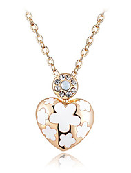 Women's Fashion Elegant Set Auger Flower Pendant Necklace