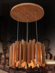 Hotel Engineering Wood Art Personality Line Room Chandelier