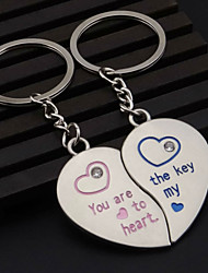 A Pair The New Design Of Heart-Shaped Lovers Keychain Pendant Delicate Small Ornament Gift Couples