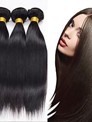 3pcs cabelo humano peruano cabelo liso tece cor natural do cabelo virgem 8-26 polegadas