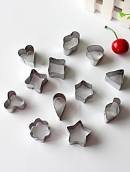 12PCS Shapes Style Stainless Steel Cake & Cookie Cutters Molds