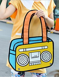 3D Three-dimensional Cartoon Satchel Shoulder Bag Laptop Bag Tote