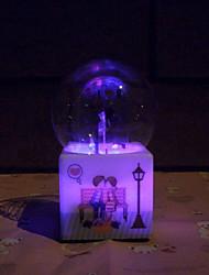 presente de aniversário padrão de violino da caixa de música bola de cristal luminosa personalidade criativa spray de água dos namorados