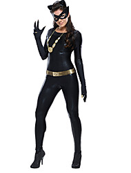 Women's PVC wetlook  DS COSPLAY Clubwear Leather Catsuit