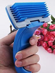 Grooming Comb Pet Grooming Supplies Portable Plastic Blue