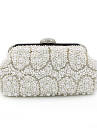 L.WEST® Women's Handmade High-grade Pearl Diamonds Party/Evening Bag