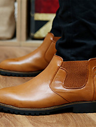 Men's Spring / Fall / Winter Combat Boots / Pointed Toe / Motorcycle Boots Leather / Leatherette Outdoor / Casual / Athletic Flat Heel