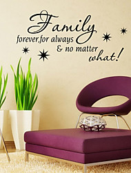 Words & Quotes Wall Stickers Plane Wall Stickers,vinyl 58*42cm