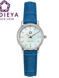 KEDIEYA Brand Watches Women Fashion Round Pearl Quartz Watch AAA Zircon Gems Dress Blue Wrist Watches for Women