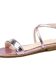 Women's Shoes Low Heel Gladiator / Ankle Strap Sandals Party & Evening / Dress / Casual Pink / Silver / Gold