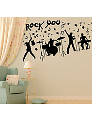 Music / People Wall Stickers Plane Wall Stickers,pvc 90*60CM