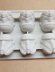 Storm Trooper Ice Mold Silicone Cube Tray Chocolate Mould Pudding Jelly Kitchen Tools