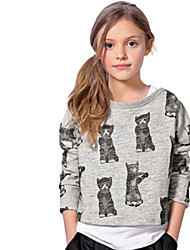 Girl's Gray Tee Cotton Winter / Spring / Fall