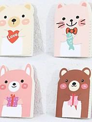 1PC Cute Little Bear Notebook A6 Small Notebook Little Notebook (Random color)