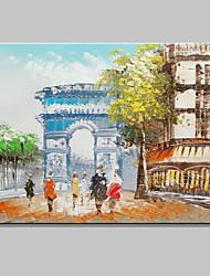 tamaño mini pintado a mano la pintura al óleo moderna del paisaje del arco de triunfo en la lona un panel listo para colgar 20x25cm